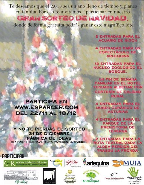 Sorteo actividades familiares en Asturias