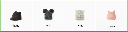 gorros, bufandas, guantes para niños