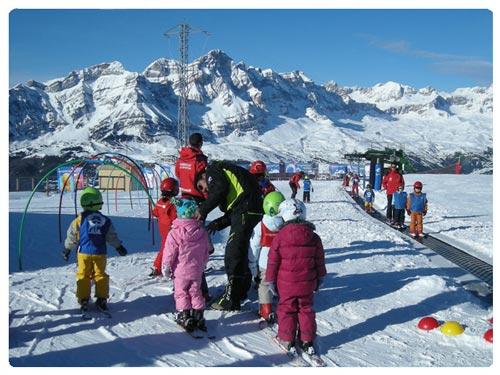 Viaje a la nieve con niños