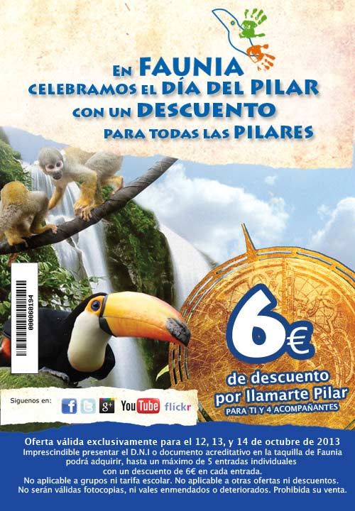 Oferta Puentes en Faunia Madrid